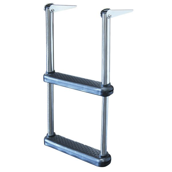 Dockmate Telescoping Drop Ladder With Plastic Steps