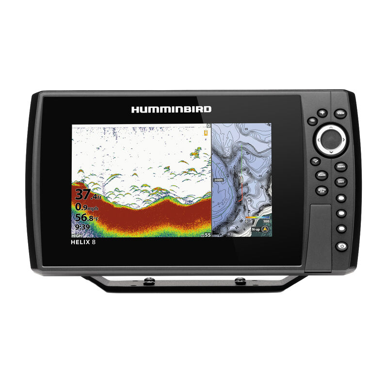 Humminbird Helix 8 CHIRP MEGA DI GPS G3N Fishfinder Chartplotter image number 4