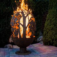 Blowing Leaf Fire Sphere, Large