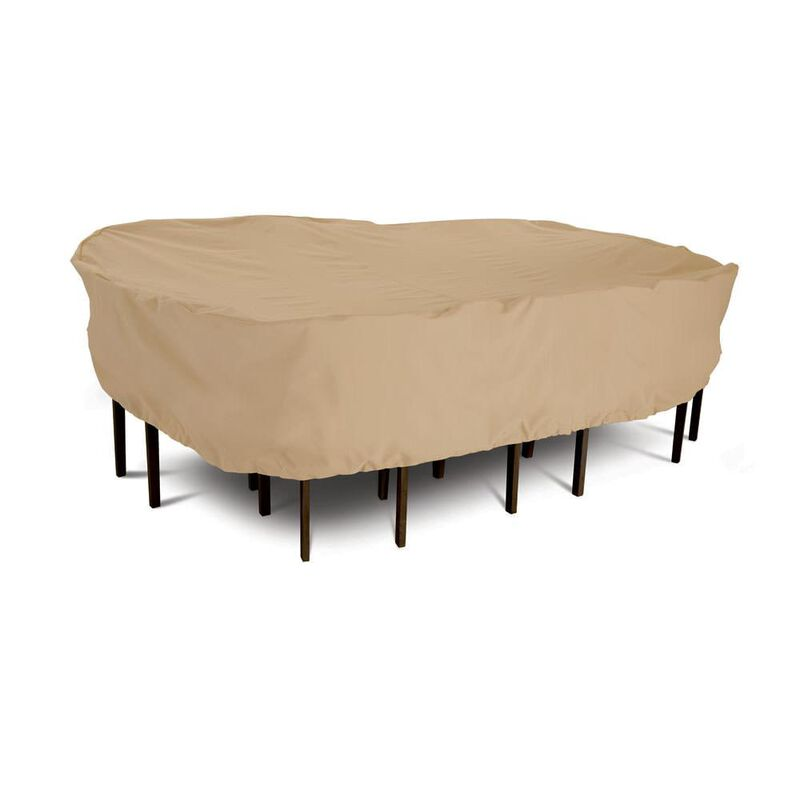 Terrazzo Collection Patio Furniture Covers-Large Rectangular/Oval Table & Chair Cover image number 1
