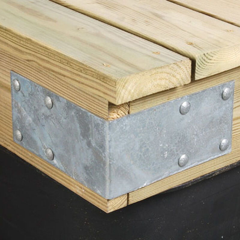 """Commercial-Grade 1/4"""" Floating Dock Hardware - Outside Corner End image number 1"""