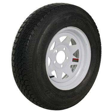 Tredit H188 20.5 x 8-10 Bias Trailer Tire, 5-Lug Standard White Rim