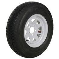 Tredit H188 4.80 x 12 Bias Trailer Tire, 5-Lug Spoke White Rim