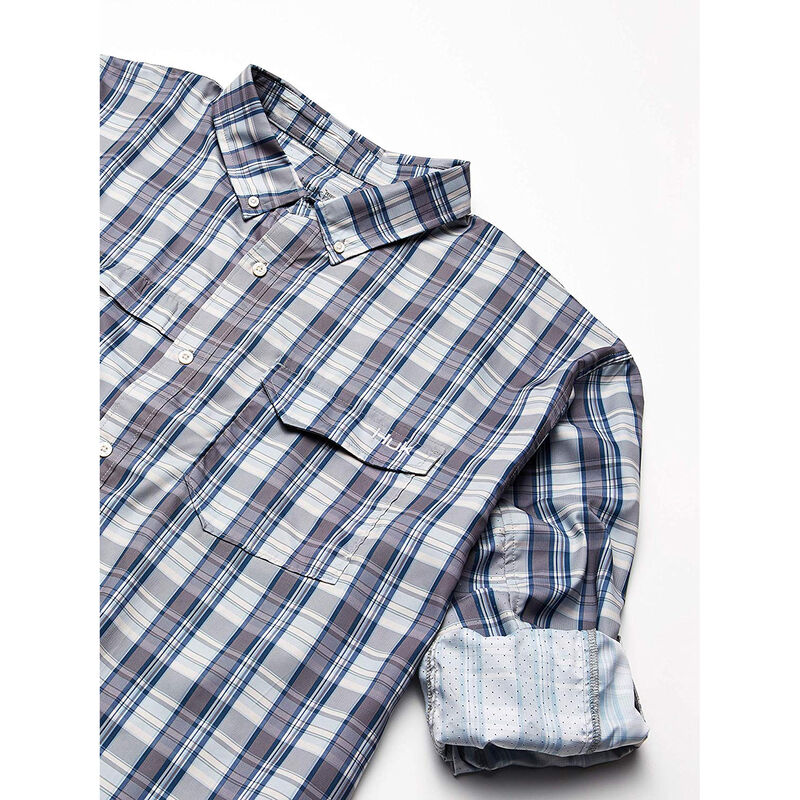 Huk Men's Tide Point Woven Plaid Long Sleeve image number 7
