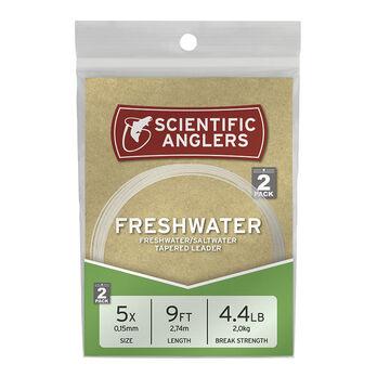 Scientific Anglers 9' Nylon Freshwater/Saltwater Leaders, 2-Pack