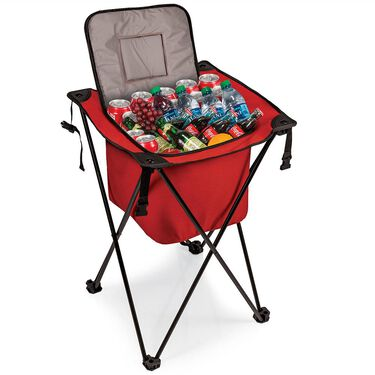 Sidekick Portable Standing Beverage Cooler, Red