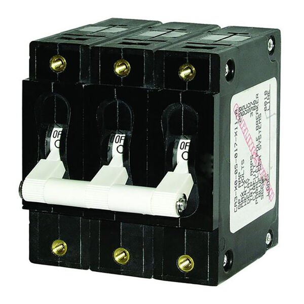 Blue Sea AC Circuit Breaker C-Series Toggle Switch, Triple Pole, 100A
