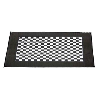 Checkered Flag Design Patio Mat