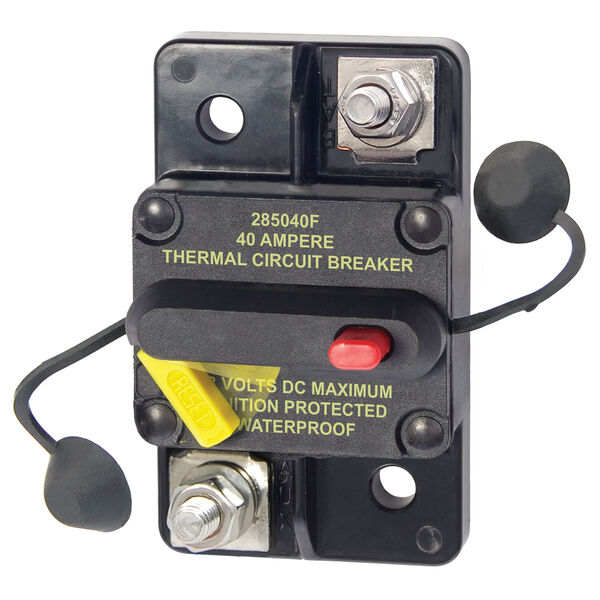Blue Sea Systems 285 Series Circuit Breaker, Surface Mount, 40 Amp