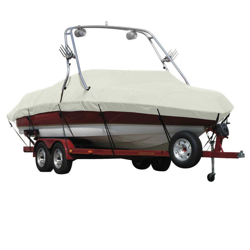 Exact Fit Covermate Sunbrella Boat Cover For MALIBU WAKESETTER 21 VLX w/TITAN TOWER CUTOUTS Doesn t COVER PLATFORM image number 17