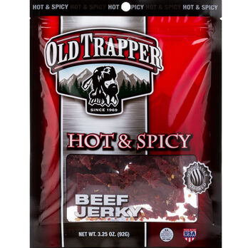 Old Trapper Hot Spicy Beef Jerky 3.25 oz.