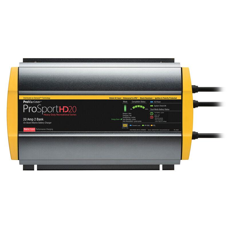 ProMariner ProSportHD 20 Gen 4 - 20 Amp - 2 Bank Battery Charger image number 1