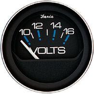 "Faria 2"" Coral Series Voltmeter, 10-16V DC"