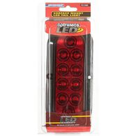 "LED Sealed Tail Light; 6"" oval, surface mount with flange, Red"