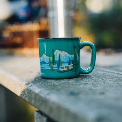 Camp Casual Mugs, Bird's Eye View