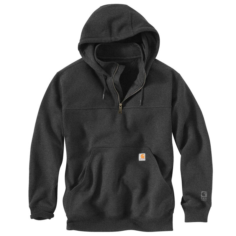 Carhartt Men's Rain Defender Paxton Heavyweight Hooded Zip Mock Sweatshirt image number 6