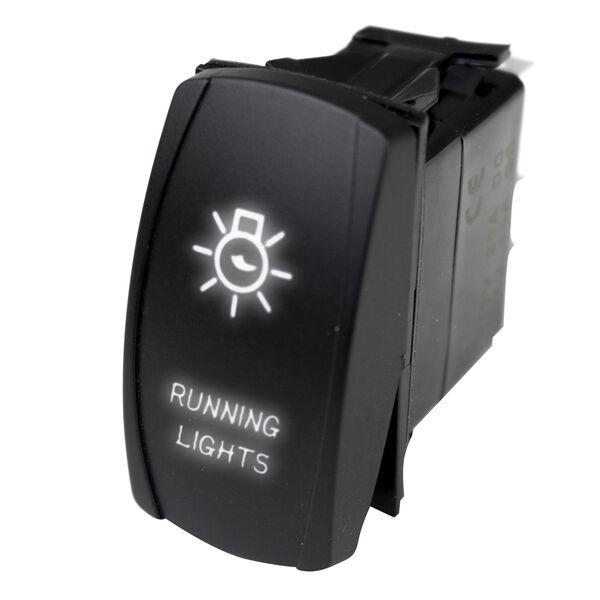 Race Sport LED Rocker Switch with White LED Radiance – Running Lights