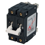 Blue Sea AC Circuit Breaker C-Series Toggle Switch, Double Pole, 50A