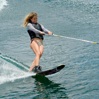 HO Women's Freeride Slalom Waterski With Free-Max Binding And Rear Toe Plate