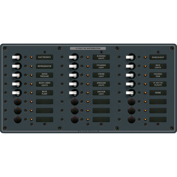 Blue Sea Systems Traditional Metal Panel, DC 24 Positions