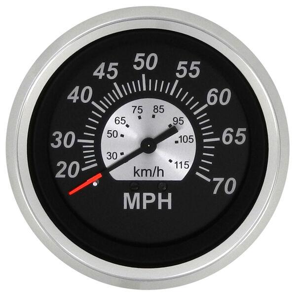 """Sierra Black Sterling 3"""" Speedometer, 70 MPH"""