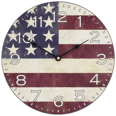 "La Crosse 12"" American Flag Wall Clock"