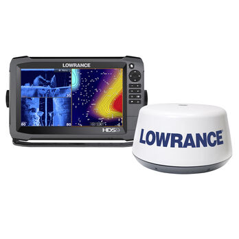 Lowrance HDS-9 Gen3 Fishfinder Chartplotter Combo with 3G Broadband Radar