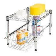 Honey Can Do Urban-Style Shelving with Removable Basket