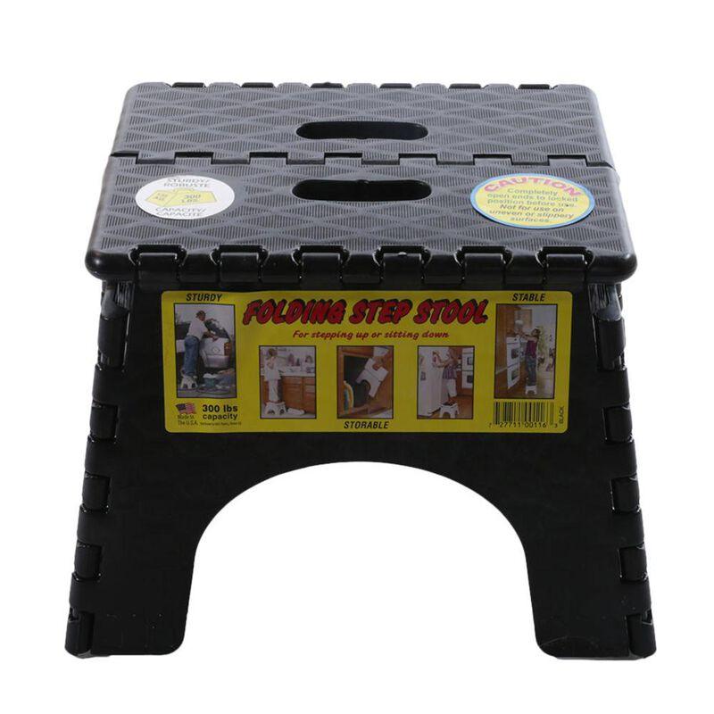 "E-Z Foldz Folding Step Stool, 9"" - Black image number 3"