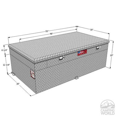 Auxiliary Combo Fuel & Tool Boxes, 91 Gallon