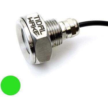 "Tidal Wake Underwater LED Boat Drain Plug Light – Plug N' Play, 1/2"" Thread, Green"