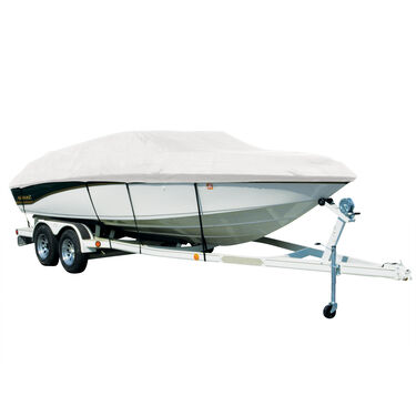 Exact Fit Sharkskin Boat Cover For Sea Ray 270 Sundancer W/Anchor Davit Exposed