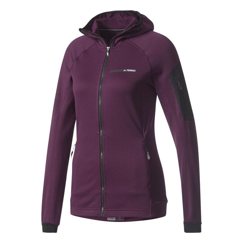 Adidas Women's Terrex Stockhorn Fleece Full-Zip Hoodie image number 12