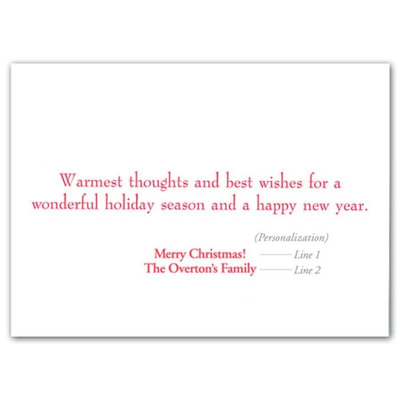 Personalized Lakeside Holiday Christmas Cards image number 2
