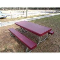 Table Gloves Fitted 6' Table Cover Set, Maroon