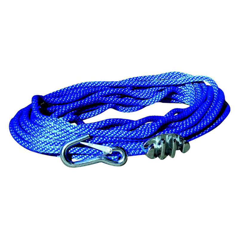 Panther 50' Polypropylene Anchor Line With Cleat And Hook image number 1
