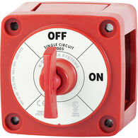 Blue Sea m-Series Mini On-Off Battery Switch with Key - Red