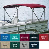 "Traditional Pontoon Bimini Top Sunbrella Acrylic, 1-1/4"" Standard Frame 90""-96""W"