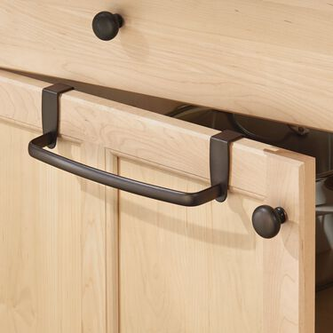 """iDesign Axis 9"""" Over-the-Cabinet Towel Bar, Bronze"""