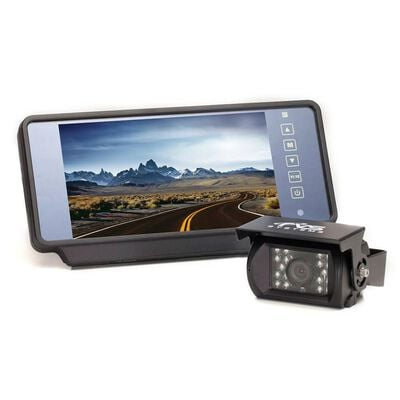 """Rear View Safety Backup Camera System with 7"""" Replacement Mirror Monitor"""