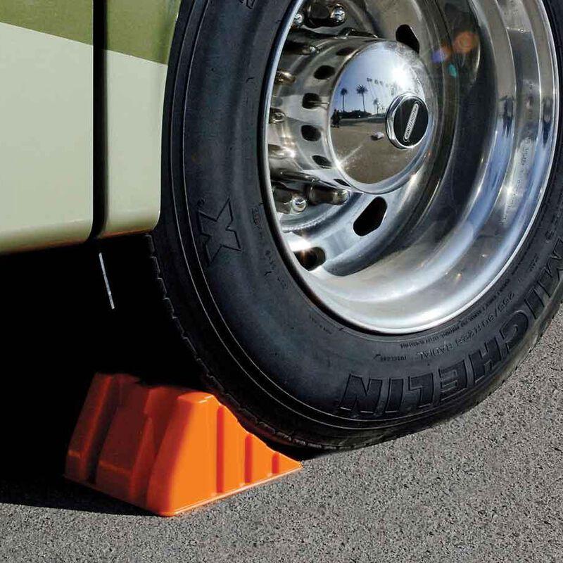 "Prime Engineered Plastics Super Wheel Chock, 8 ½""W image number 1"