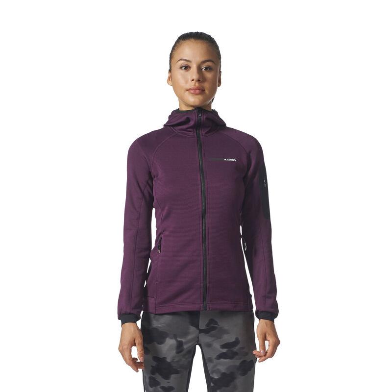 Adidas Women's Terrex Stockhorn Fleece Full-Zip Hoodie image number 3