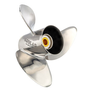Solas 3-Blade Propeller, Pressed Rubber Hub / Stainless Steel, 13 dia x 21 pitch, Right Hand