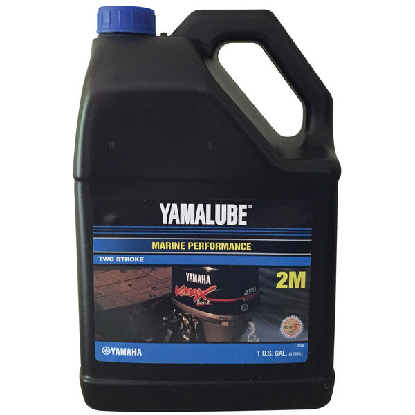 Yamaha Yamalube 2M 2-Stroke Outboard Engine Oil, Gallon
