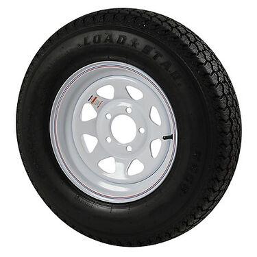 Kenda Loadstar 205/75 x 14 Bias Trailer Tire w/5-Lug White Spoke Rim