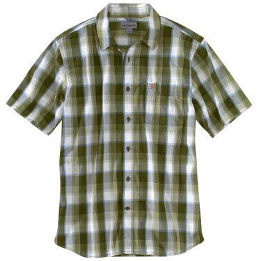 Carhartt Men's Essential Plaid Open-Collar Short-Sleeve Shirt