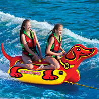 WOW 2-Person Weiner Dog Towable Tube