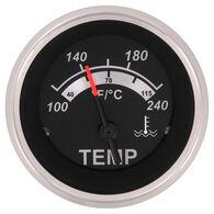 """Sierra Black Sterling 2"""" Water Temperature Gauge"""