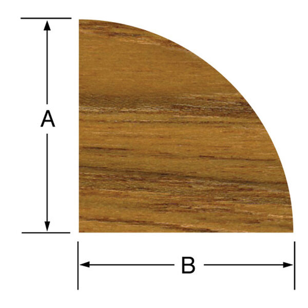 SeaForce Teak Small Quarter Round Molding, 5'L