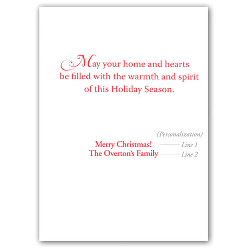 Personalized Lakeside Serenity Christmas Cards image number 2